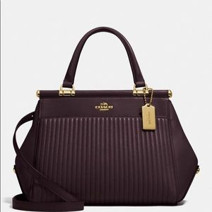 Coach Grace Bag With Quilting Oxblood